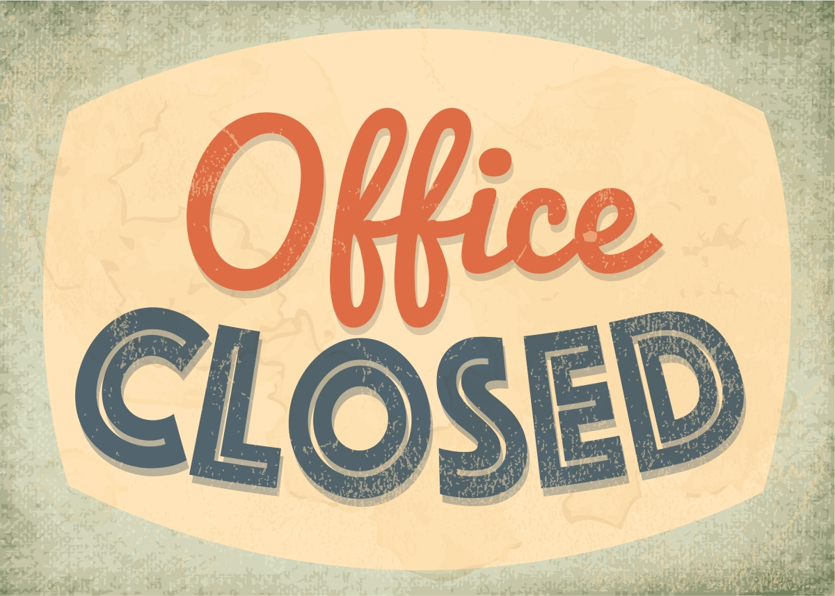 Office Closed 12/21 – 1/1