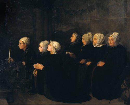 Femmes en Prière 1888 by Alphonse Legros 1837-1911